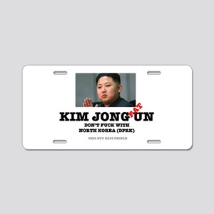 KIM JOHN FAT UN - DPRK Aluminum License Plate