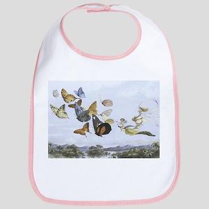 Fairies and Butterflies Cotton Baby Bib