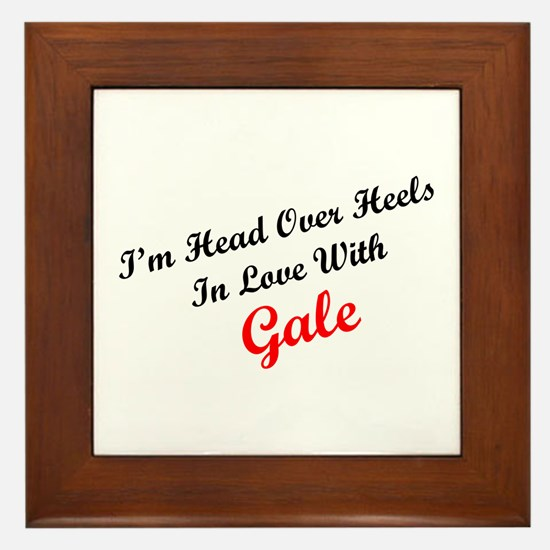In Love with Gale Framed Tile