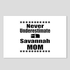 Never Underestimate savan Postcards (Package of 8)