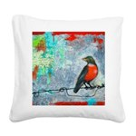 Looking Back Square Canvas Pillow