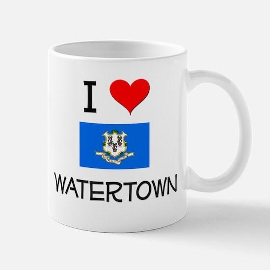 I Love Watertown Connecticut Mugs