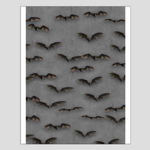 Bats On Gray Small Poster