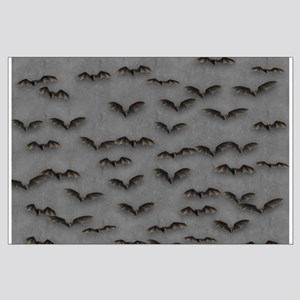 Bats On Gray Large Poster