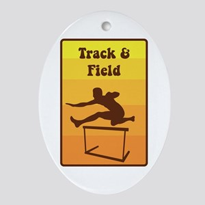 Track and Field Ornament (Oval)