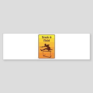 Track and Field Bumper Sticker
