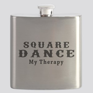 Square Dance My Therapy Flask