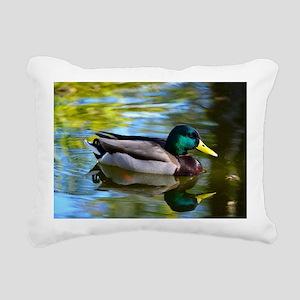 Mallard reflections Rectangular Canvas Pillow
