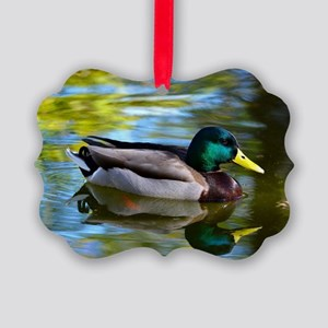 Mallard reflections Picture Ornament