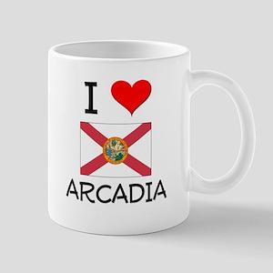 I Love ARCADIA Florida Mugs