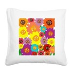 Flower Power Square Canvas Pillow