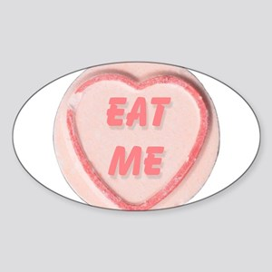 Eat Me Candy Oval Sticker