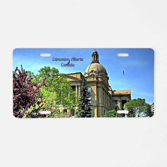 Edmonton, Alberta, Canada Aluminum License Plate
