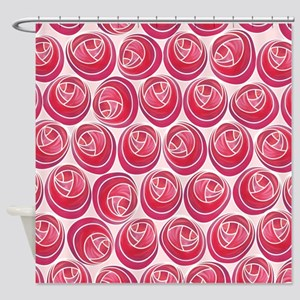 Mackintosh Roses Art Nouveau Shower Curtain