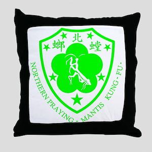 green mantis Throw Pillow