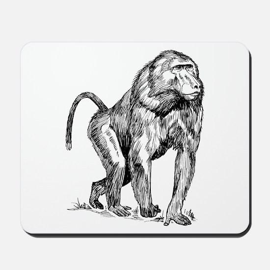 Baboon Sketch Mousepad