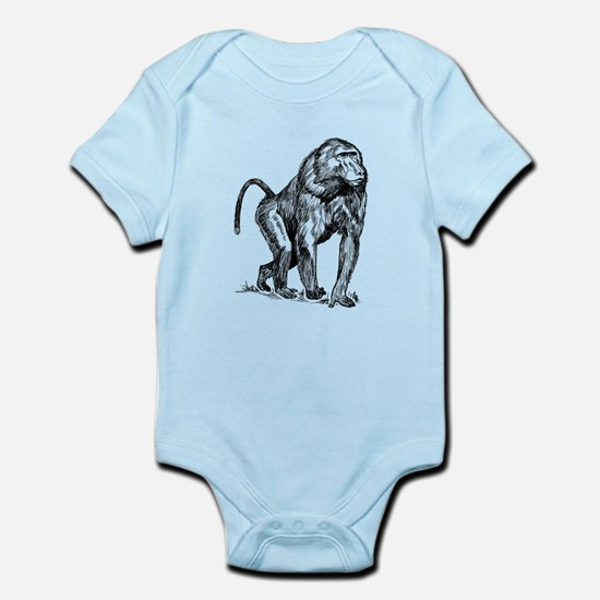 Baboon Sketch Body Suit