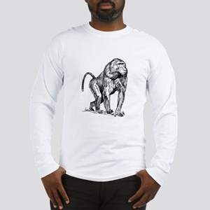 Baboon Sketch Long Sleeve T-Shirt