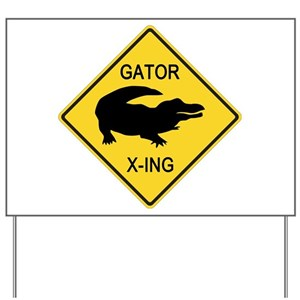 alligator yard signs cafepress