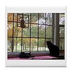 Window View Tile Coaster
