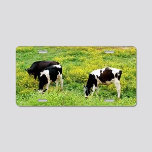 Small herd of cows Aluminum License Plate