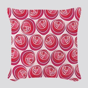 Mackintosh Roses Art Nouveau Woven Throw Pillow