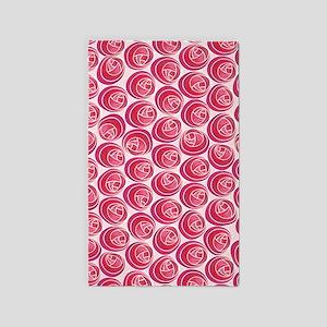 Mackintosh Roses Art Nouveau 3'x5' Area Rug