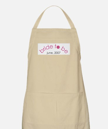 Bride to be June 2007 BBQ Apron