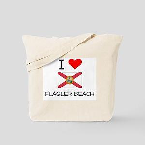 I Love FLAGLER BEACH Florida Tote Bag