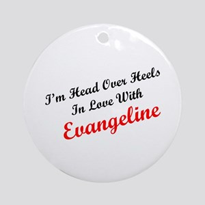 In Love with Evangeline Ornament (Round)