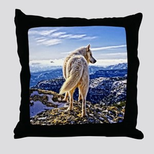 Leader of the Pack - Wolf Throw Pillow