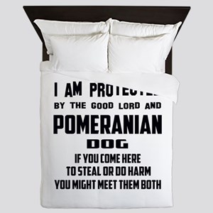 I am protected by the good lord and Po Queen Duvet