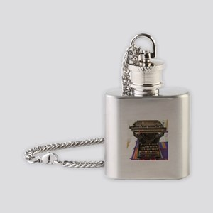 Antique Typewriter Flask Necklace
