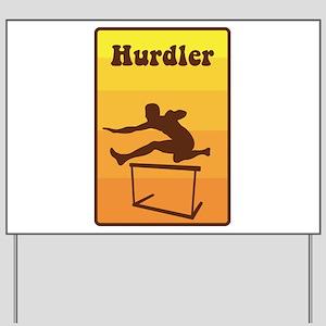 Hurdler Yard Sign