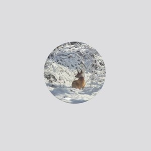 Winter Scene Teddy Roosevelt Terrier Mini Button
