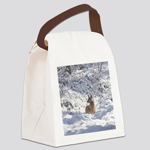 Winter Scene Teddy Roosevelt Terr Canvas Lunch Bag