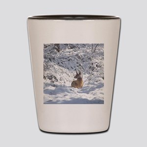 Winter Scene Teddy Roosevelt Terrier Shot Glass