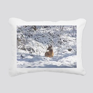 Winter Scene Teddy Roose Rectangular Canvas Pillow