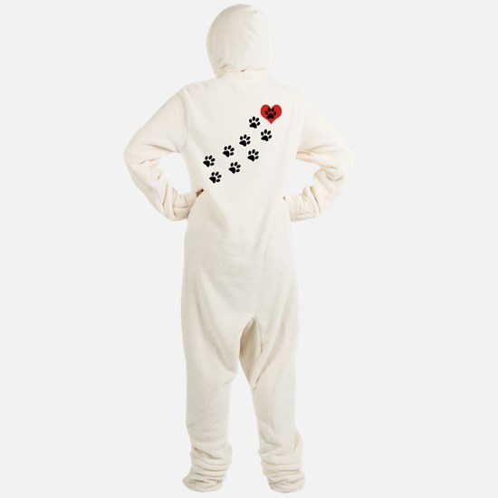Paw Prints To My Heart Footed Pajamas