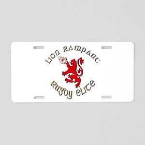 Scottish lion rugby elite Aluminum License Plate