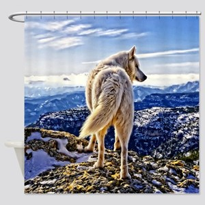 Leader of the Pack - Wolf Shower Curtain