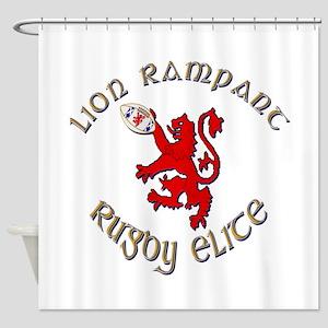 Scottish lion rugby elite Shower Curtain