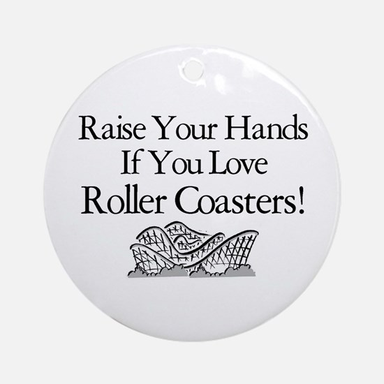 Roller Coaster Ornament (Round)