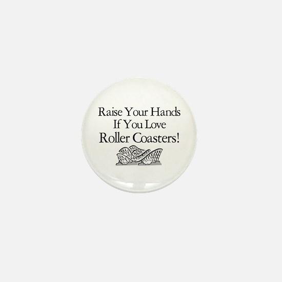 Roller Coaster Mini Button