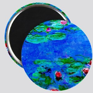Monet - Water Lilies painting closeup Magnet
