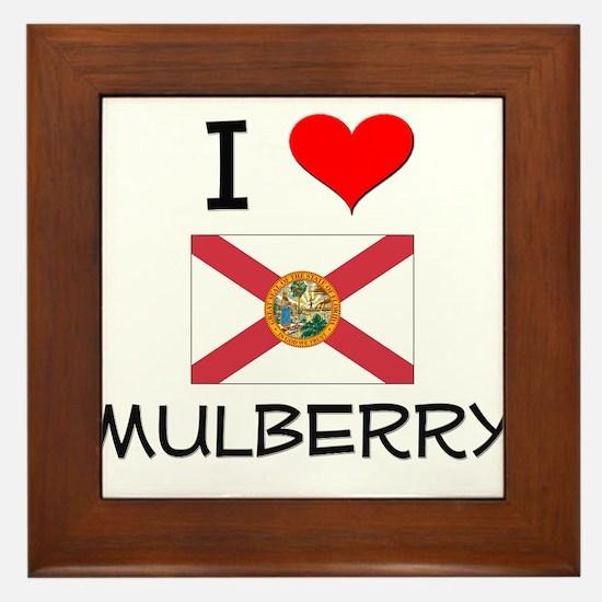 I Love MULBERRY Florida Framed Tile