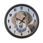 Beagle Large Wall Clock