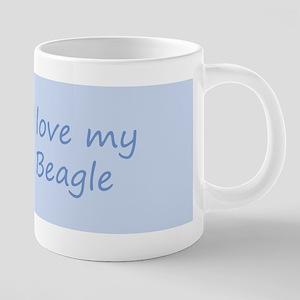 Beagle 20 oz Ceramic Mega Mug