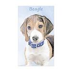 Beagle Sticker (Rectangle 50 pk)