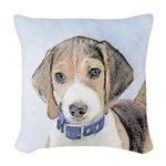 Beagle Woven Throw Pillow